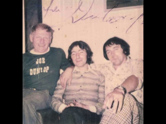 Brian Kinnish with Joey Dunlop